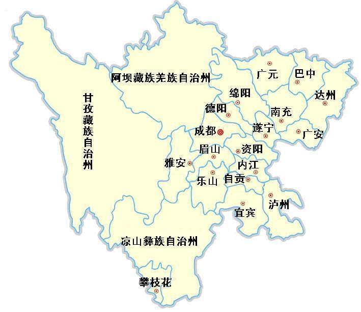 四川省广安县地图